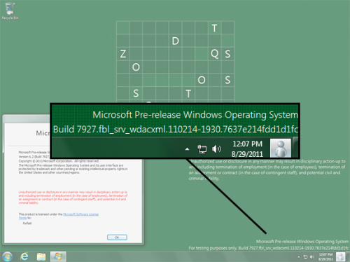 Windows 8 Milestone 2 Build 7927
