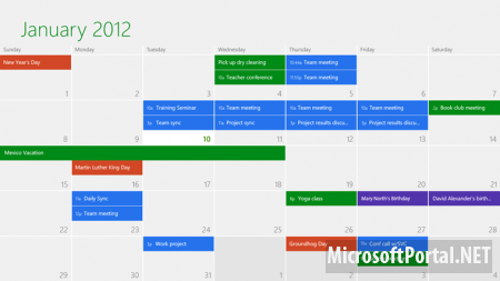 В Windows 8 Release Preview обновлены приложения Mail, Calendar, People и Messaging