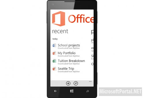 Особенности интерфейса Office 2013 для Windows Phone 8