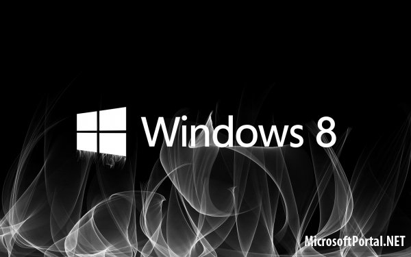 Дымящая обоина Windows 8