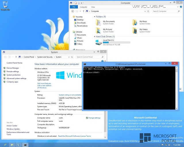 Windows Blue Build 6.3.9369 поддерживает новую файловую систему ReFS
