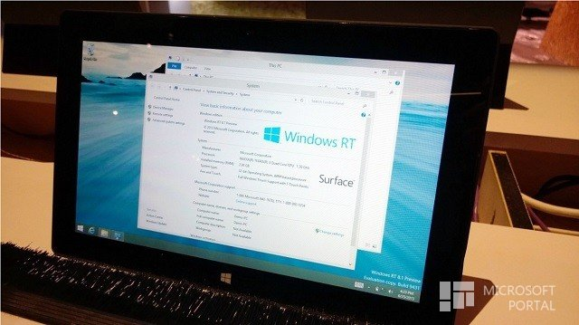 Windows RT 8.1 Preview замечена на BUILD 2013