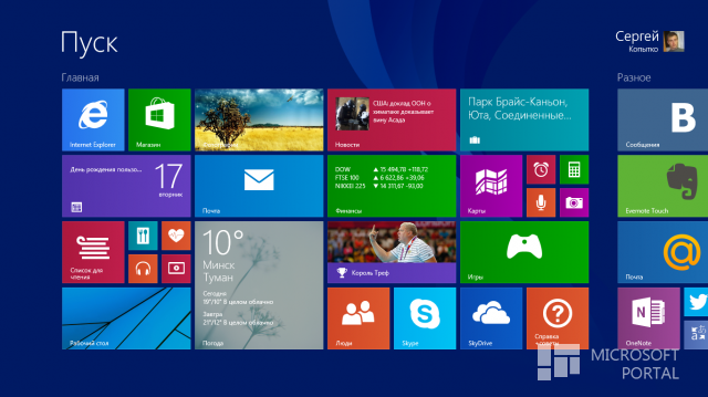 Новшества Windows 8.1 RTM