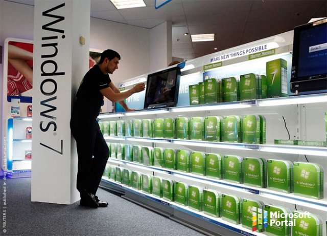 Компания Microsoft прекратила  поставки Windows 7 в розницу