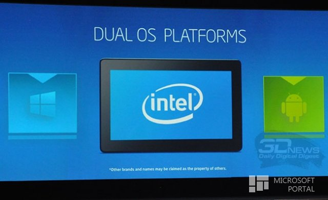 Intel will increase PC sales, combining Android and Windows