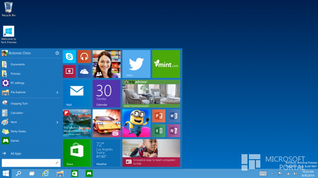 5 скриншотов Windows 10 Build  9841 (Technical Preview)