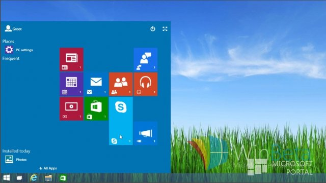 Первое видео Windows 10 Technical Preview Build 9879