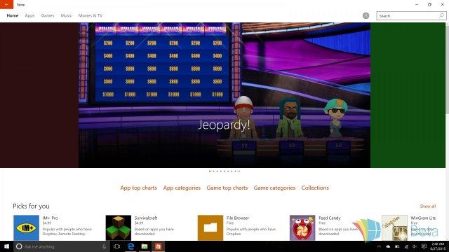 Сборка Windows 10 Build 10154: новый магазин приложений получил ряд улучшений
