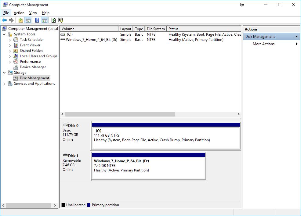 Как сделать жесткий диск для windows 7