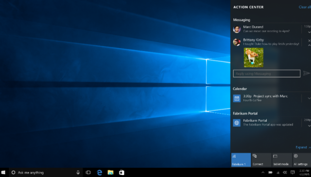 Примечания к Windows 10 PC Insider Preview build 10532