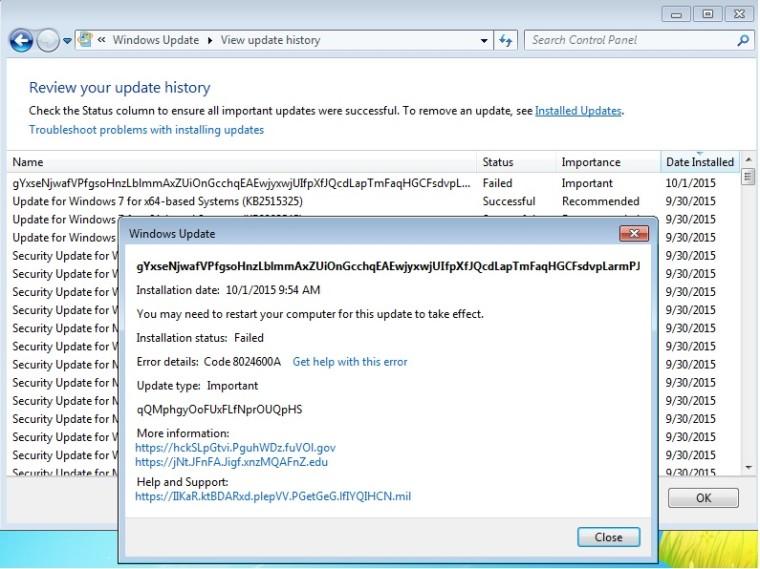 Microsoft случайно опубликовала тестовое обновление в