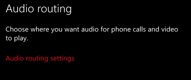 Windows 10 Mobile Redstone получила функцию Call Audio Routing