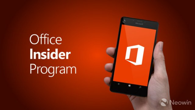 Компания Microsoft выпустила новую версию Office Insider Preview для Office Mobile