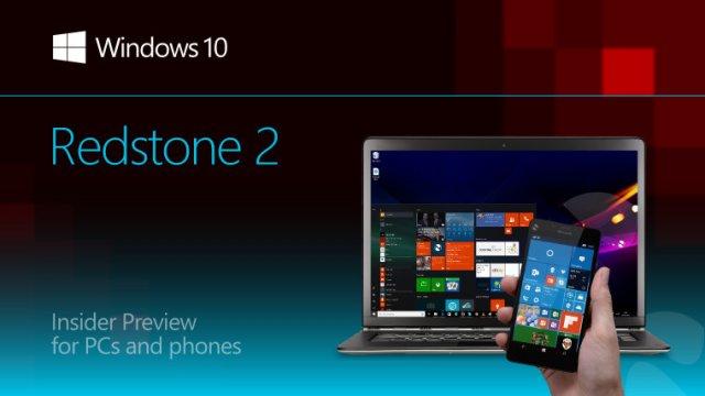 В первых сборках Windows 10 Redstone 2 будут лишь структурные улучшения