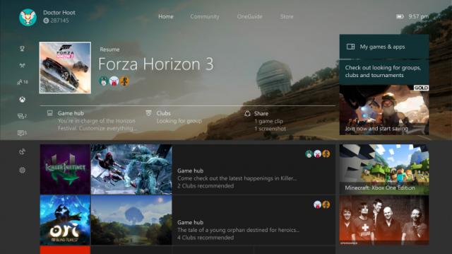 Microsoft приступила к выпуску первого набора функций Windows 10 Creators Update для Xbox One