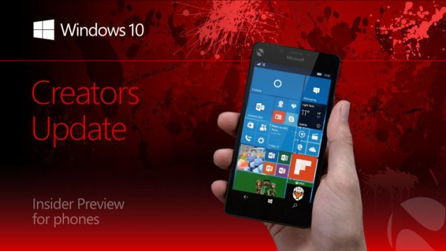 Пресс-релиз сборки Windows 10 Mobile Insider Preview Build 15031