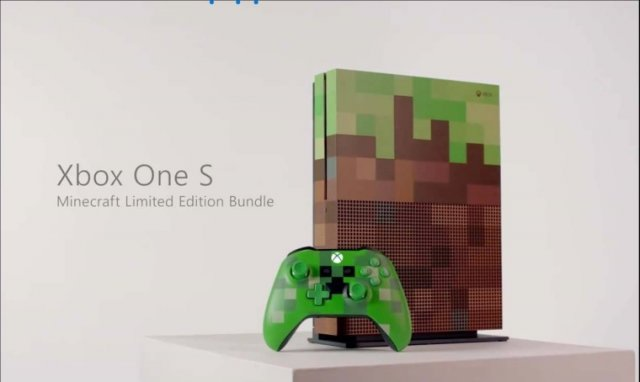 Microsoft выпустит Xbox One S Minecraft Limited Edition на Gamescom 2017