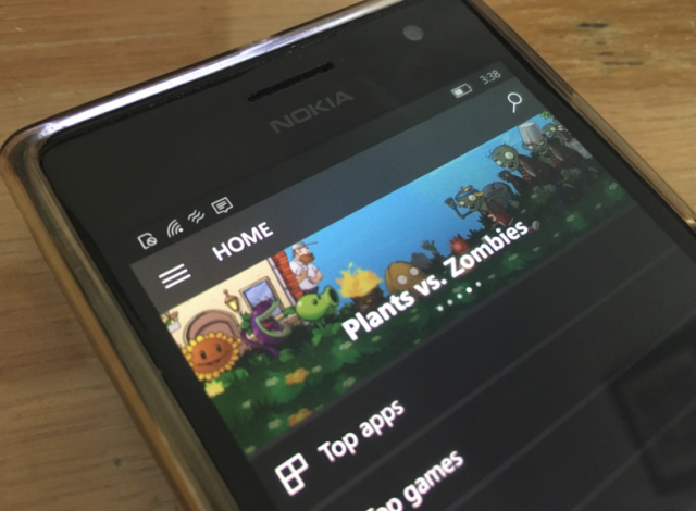 Windows Store получил элемент Fluent Design на Windows 10 Mobile