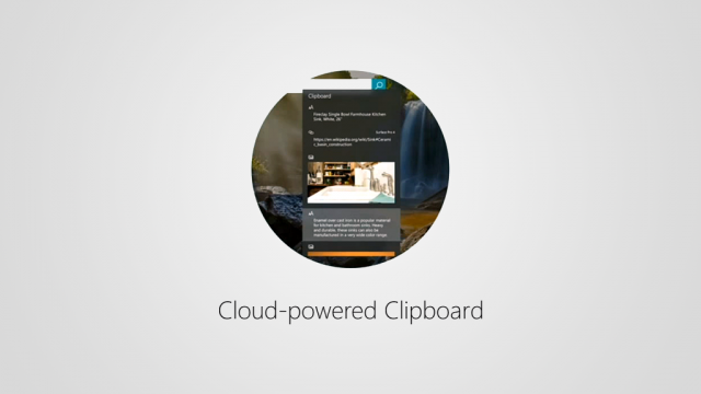 Функция Cloud Clipboard в Windows 10 Insider Preview Build 17004