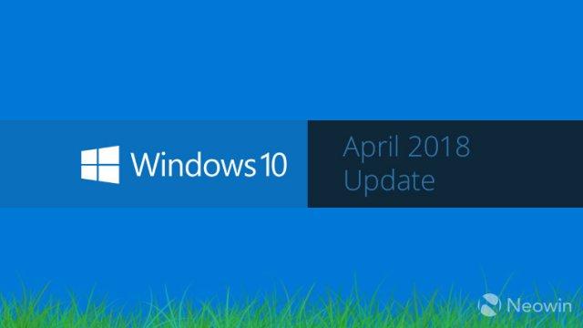 Обновление Windows 10 Version 1803 будет называться Windows 10 April 2018 Update?