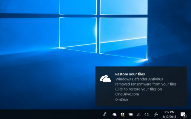 Microsoft анонсировала интеграцию OneDrive Files Restore и Windows Defender Antivirus