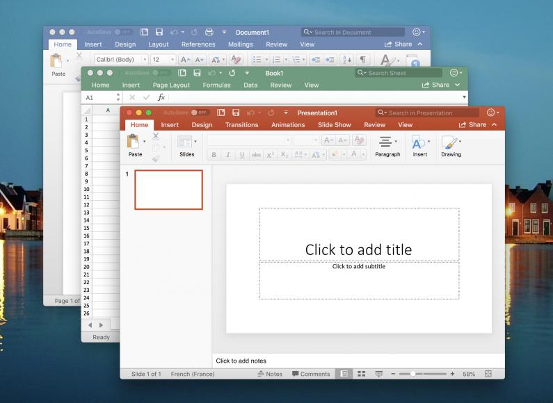 Microsoft выпустила Office 365 в Apple Mac App Store