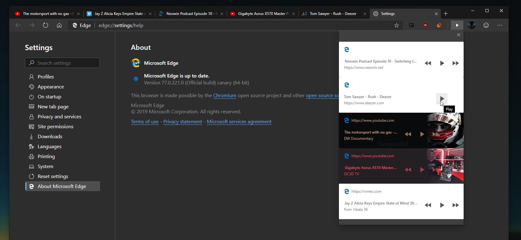 Microsoft тестирует функцию Global Media Controls в