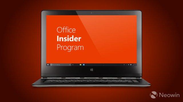 Инсайдеры Office могут установить сборку 12105.20000