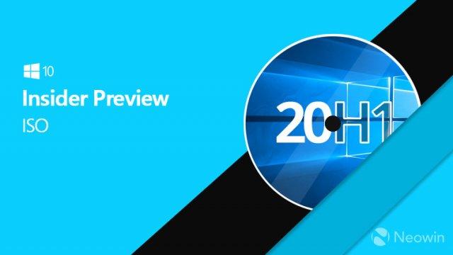 Microsoft выпустила официальные ISO-образы сборки Windows 10 Build 19035