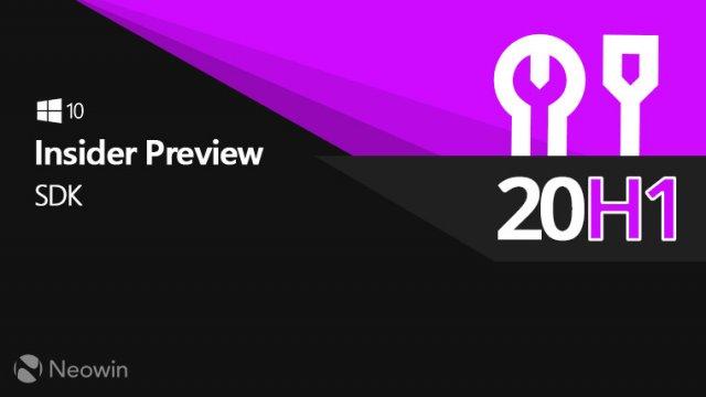 Microsoft выпустила Windows 10 SDK Preview Build 19035