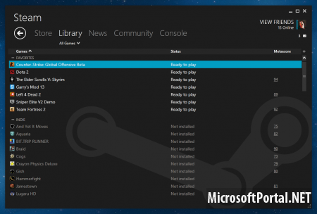 Windows 8 Steam Skin