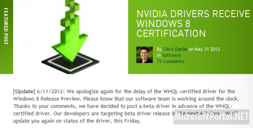 NVIDIA GeForce 302.80 Beta для Windows 8 Release Preview