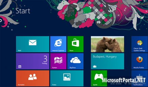 Фоновые рисунки стартового экрана в Windows 8