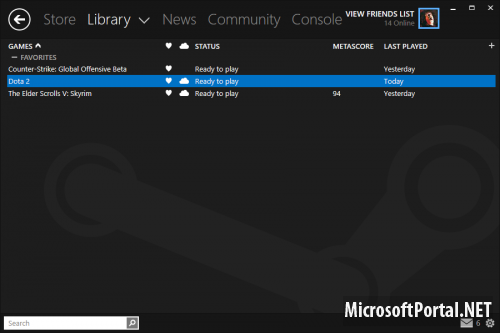 Windows 8 Steam Skin v2.1
