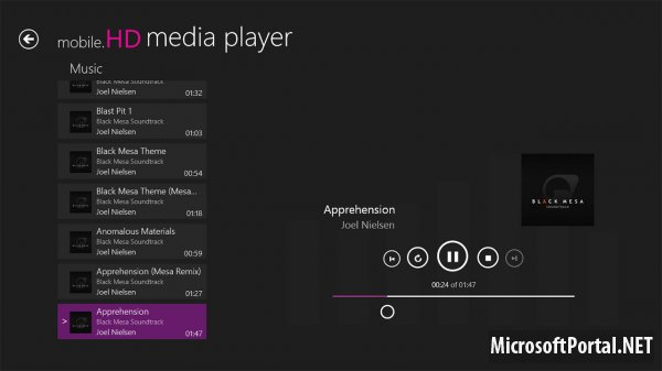 Windows Store: mobile.HD Media Player