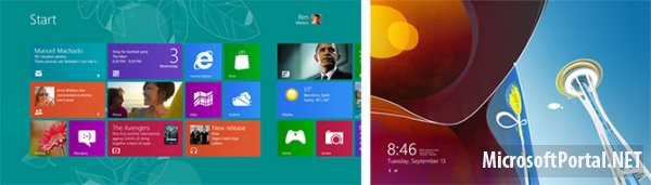 Концепты стартового экрана Windows 8