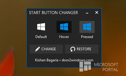 Windows 8.1 Start Button Change