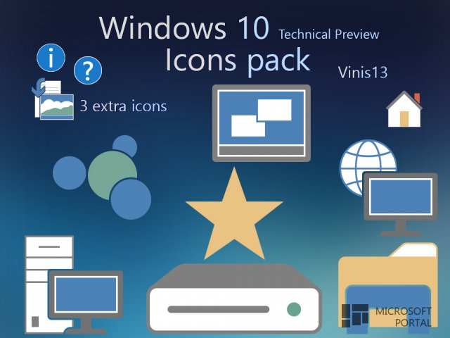 Иконки Windows 10 TP