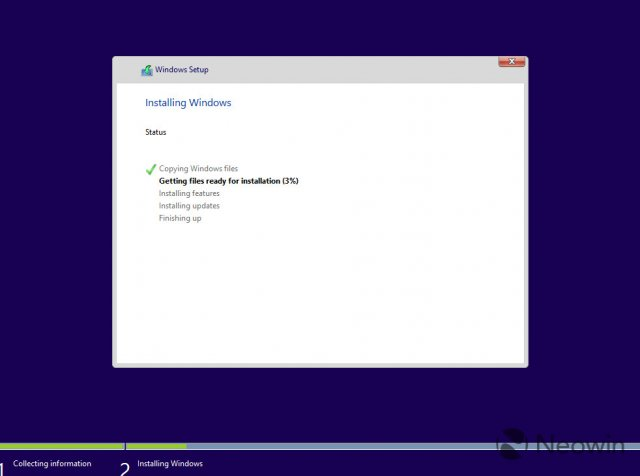 Изображения обновлённого процесса установки сборки Windows 10 Build 9926