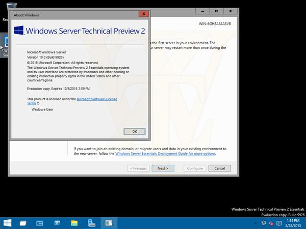 Windows Server vNext Build 9926 Technical Preview 2 [дополнено 1]
