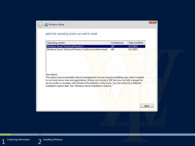 Скриншоты Windows 10 Server Technical Preview 2 Build 10135