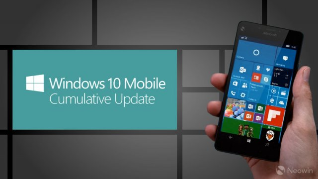 Сборка Windows 10 Mobile Build 10586.164 на видео