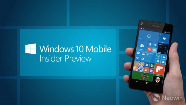 Пресс-релиз сборки Windows 10 Mobile Insider Preview Build 15207