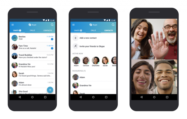 Microsoft обновила Skype for Android