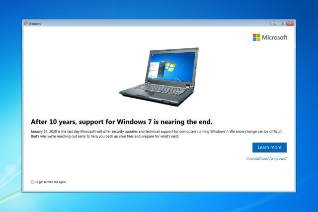 Официальная поддержка Windows 7 закончилась
